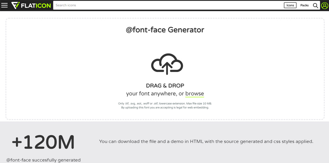 Flaticon - Icon Fonts Generator