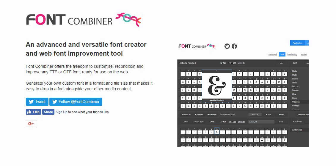 Font Combiner - Icon Fonts Generator
