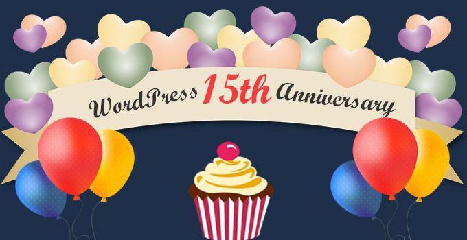Happy WordPress 15th Anniversary
